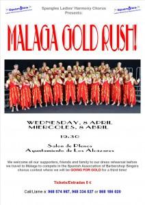 Malaga Gold Rush Poster 2015